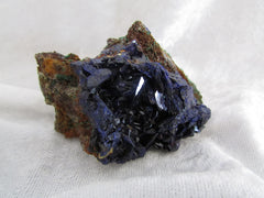 Bisbee Azurite on Limestone Matrix - SOLD - Bisbeeborn - 1