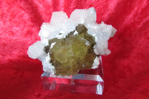 Fluorite with Calcite and Dolomite - Bisbeeborn - 1