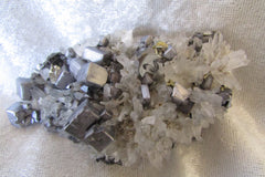 Galena Cubes on Quartz - Bisbeeborn - 1