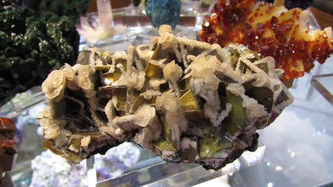 Calcite and Wulfenite - Bisbeeborn - 1