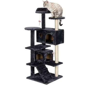 Big Cat Tree Custom Condo Cat Mansion Scratching Tower - Sturdy 51