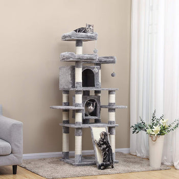 Large Cat Tree Climbing Post Scratching Tower - 5 Tier 67