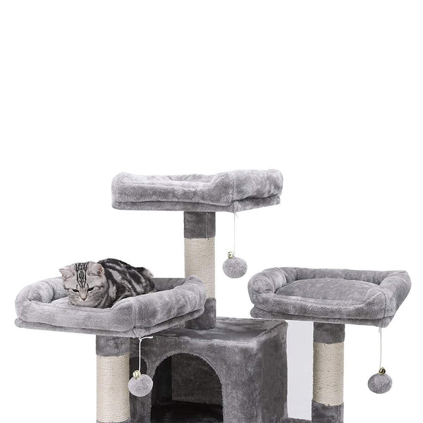 "Large Cat Tree Climbing Post Scratching Tower - 5 Tier 67"" Play House"