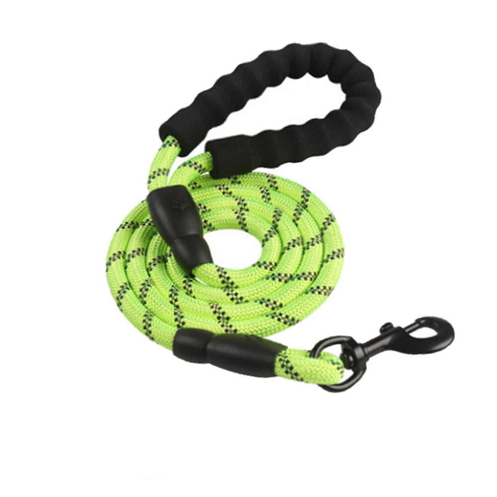 Dog Leash Strong Nylon Reflective Lead with Soft Handle - 120 cm Training Rope for Medium Large Dogs