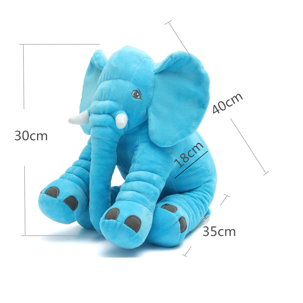 Elephant Soft Plush Stuffed Toy Pillow - Baby Toddler Cushion