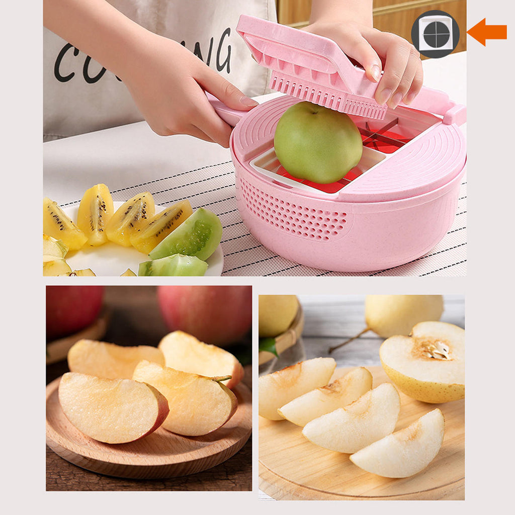 Multifunctional 9 in 1 Vegetable Chopper Dicer - Food Shredder Onion Chopper Fruit Slicer