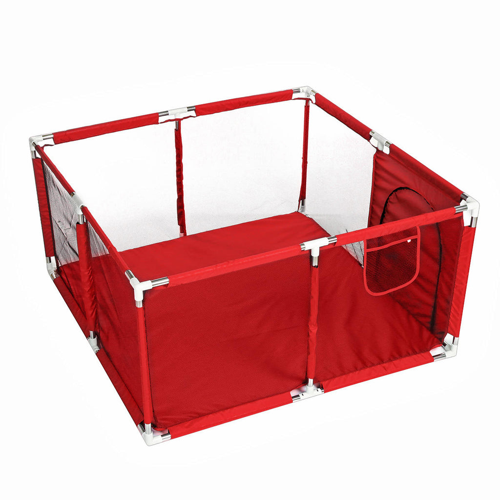 Baby Play Pen Toddler Play Yard Kids - Fun Play Area with Basketball Hoop
