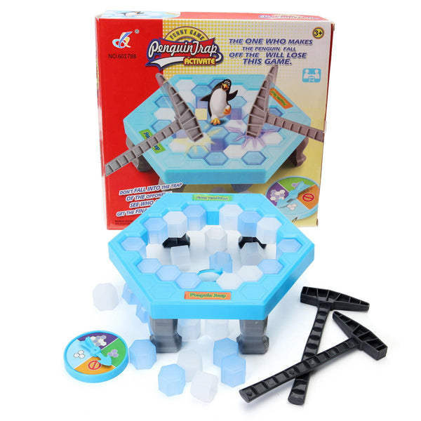Save the Penguin Icebreaker Puzzle Table Game - Don't Break the Ice Fun Family Game