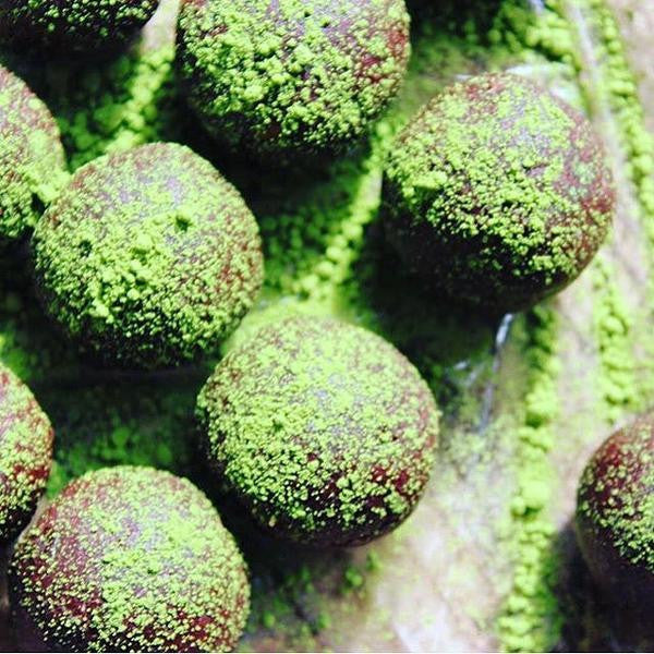 Vegan Matcha Green Tea Truffles by Summer Sanders