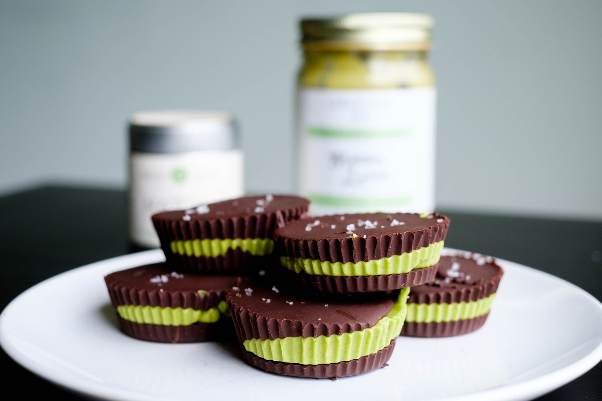Matcha Latte Nut Butter Cups (dairy-free/GF)