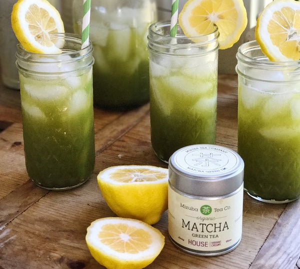 Mason Jar Matcha Lemonade!