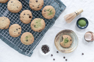 The Best Ever Chocolate Chip Cookie by Nourish - with Matcha Salt!