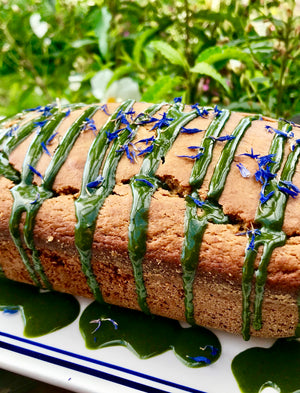 Matcha Green Tea Drizzled Tea Cake. Citrus Olive Oil Yogurt Cake for Parties!