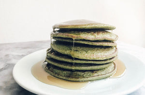 Fluffy Vegan Matcha Green Tea Pancakes for Wellness