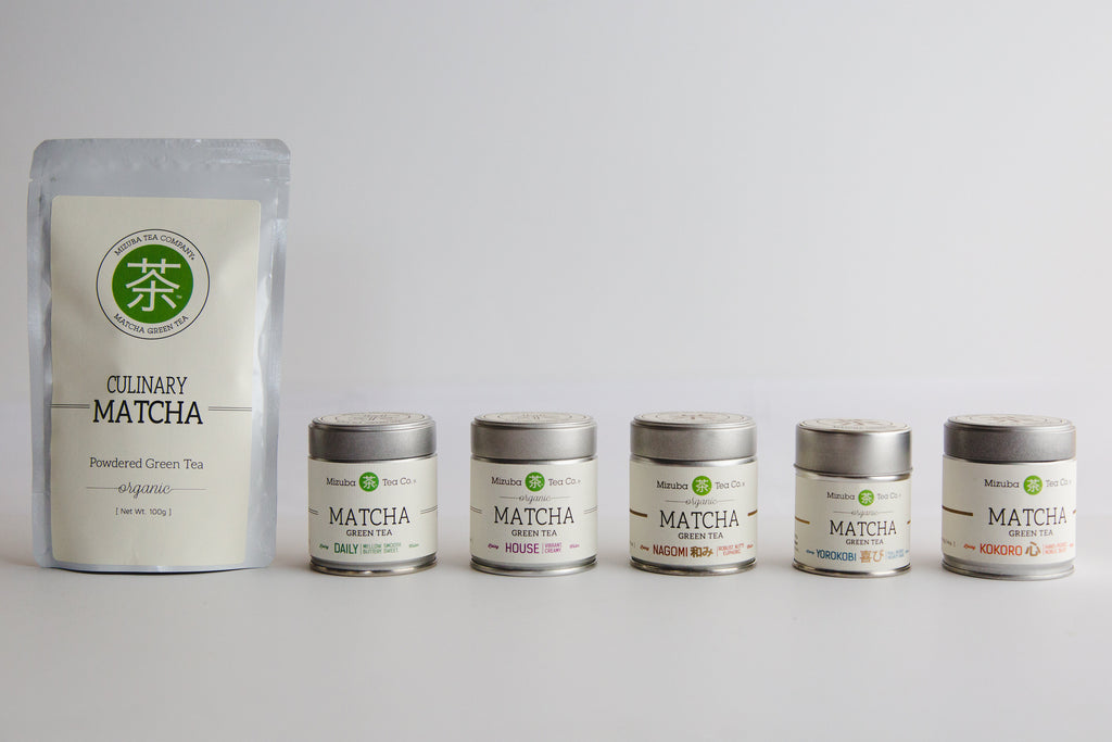 The Complete Mizuba Matcha Green Tea Collection. Pure Uji Matcha Tea from Japan!