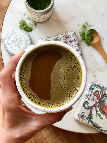 Matcha Green Tea Latte for Moms - perfect for energy and anti inflammation
