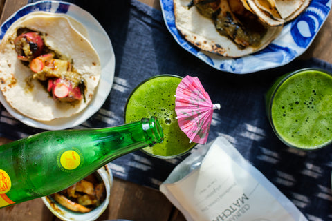 Matcha Soda Japanese Taco Party Recipes