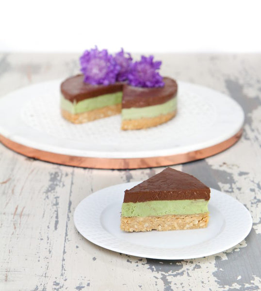 Tahini Chocolate Ganache Matcha Green Tea Paleo Dream Cake