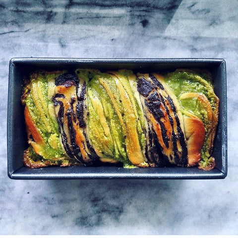 The best babka recipe - matcha chocolate swirls! Use pure organic Japanese matcha for this traditional recipe.
