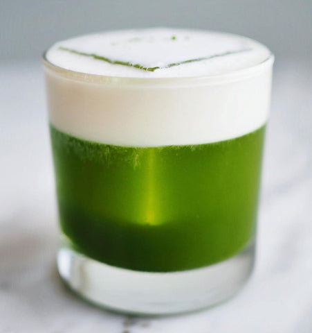 Go Green with a Mizuba Matcha Cocktail! Made at Tusk, Portland.