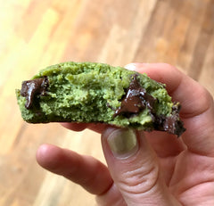 Perfectly Chewy Refined Sugar Free Matcha Green Tea Paleo Cookie Bites