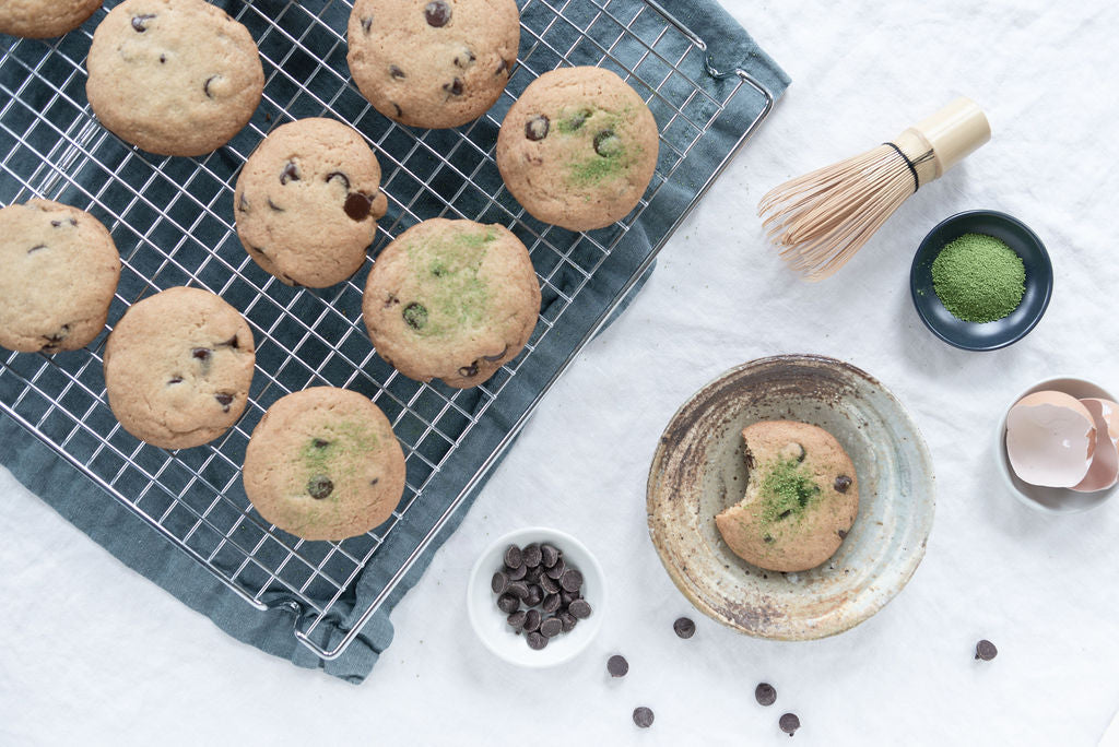 Mizuba Matcha Green Tea Salt Recipe for Chocolate Chip Cookies