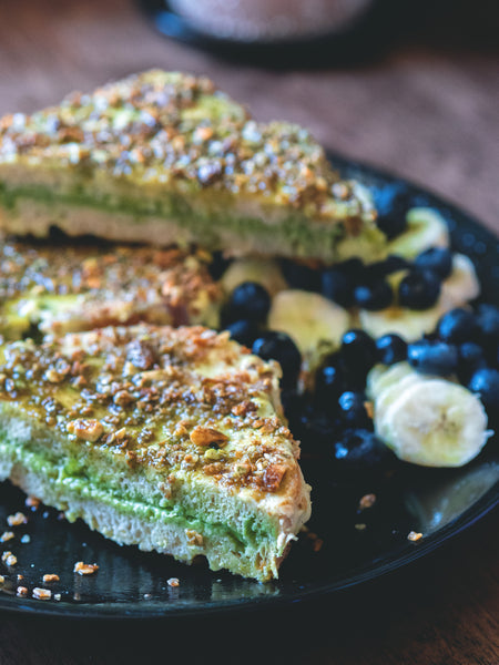 Vegan Matcha French Toast