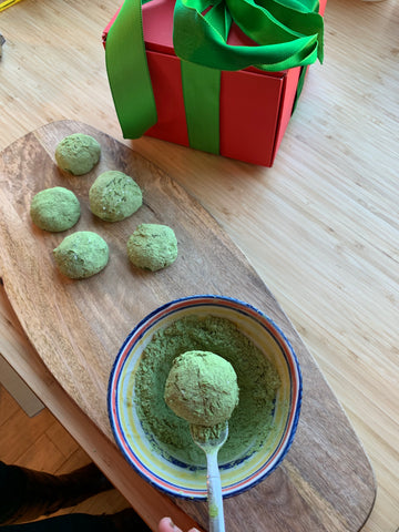 Mizuba Matcha Mexican Wedding Cookie Recipe for holidays
