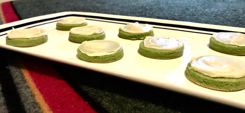 Sugar Cookies made with organic matcha green tea