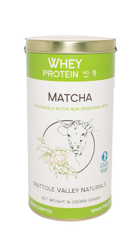Mizuba Matcha Green Tea Protein Organic Whey Powder. Mattole Valley Naturals