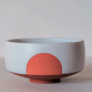 Coral Sunrise Chawan for Matcha Tea