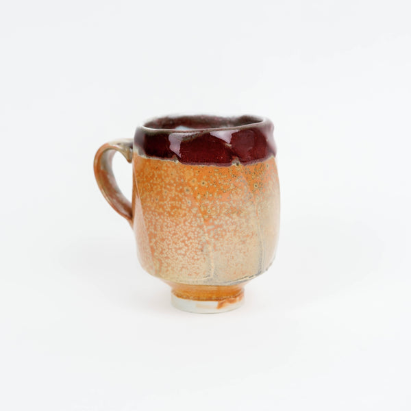 Golden glitter shino handmade mug from Los Angeles by Japanese technique
