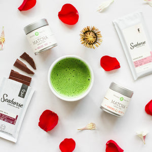 Luxurious chocolate and green tea tasting