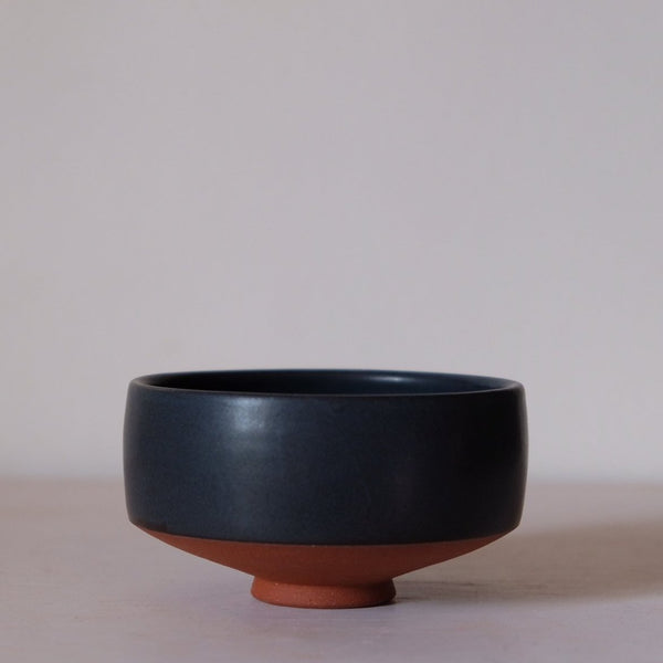 Pure Black Chawan for Matcha Green Tea