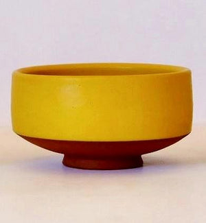 Golden Sunshine Matcha Green Tea Bowl Handmade by Wolf Ceramics