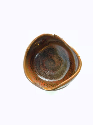 Handcrafted, glazed traditional chawan tea bowl by artist Austin Danson.