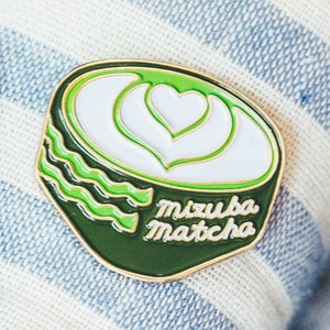 Mizuba Tea Latte Enamel Pin