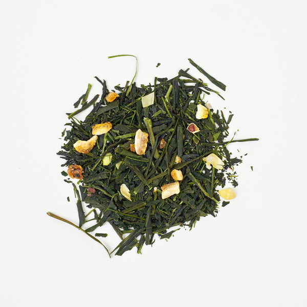Organic Sencha with Yuzu. Japanese tea blend.