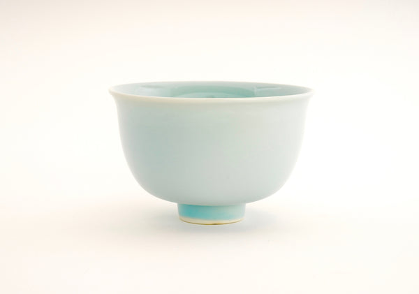 Winter Porcelain Chawan Matcha Green Tea Bowl.