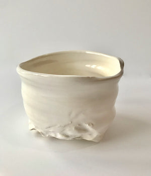 Floating Cloud Matcha Green Tea Chawan. Handmade tea bowl.