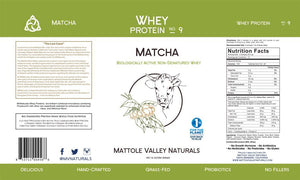 Matcha Green Tea Whey Protein Powder. Clean and traceable. Gluten Free, Hormone Free, Antibiotic Free. Perfect for workouts!