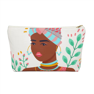 Brave Girl in Her Summer Thoughts Accessory Pouch w T-bottom