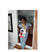 Load image into Gallery viewer, Brave Girl in Her Summer Thoughts Tote Bag Series