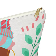 Load image into Gallery viewer, Brave Girl in Her Summer Thoughts Accessory Pouch w T-bottom