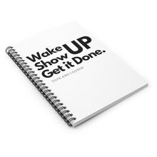Load image into Gallery viewer, WAKE UP and Write it DOWN Spiral Notebook - Ruled Line