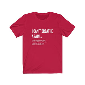 I Can't Breathe BLM Unisex Civil Rights Freedom T- Shirt