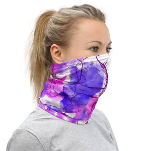 Watercolor Poppy Neck Gaiter