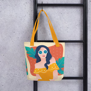 Unbothered Girl in Her Summer Thoughts Tote Bag Series