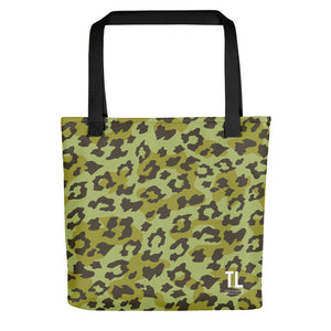 Green Leopard Tote Bag