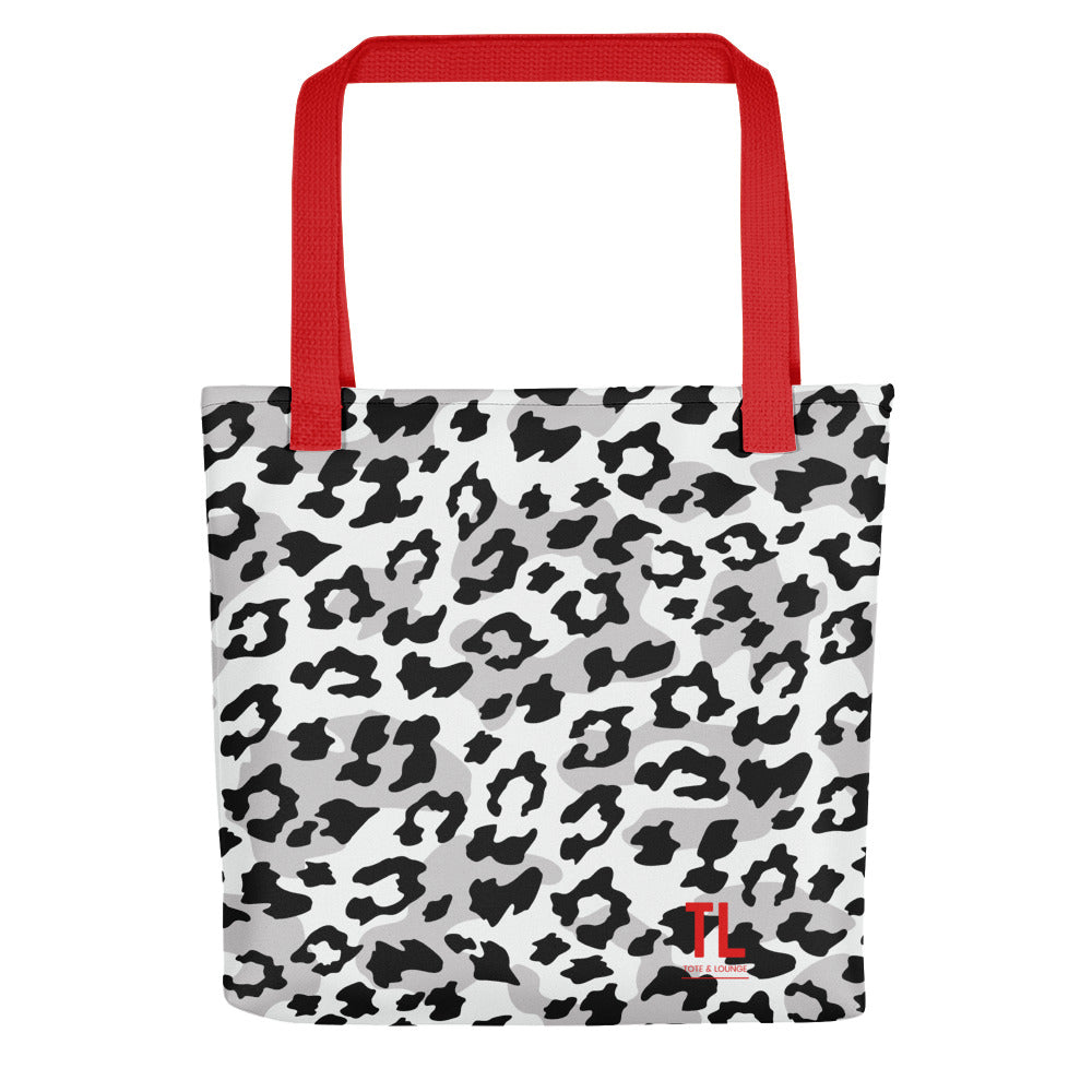 Black & White Leopard Tote Bag